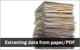 Extract data from Paper Reports and PDFs